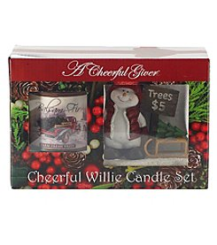 A Cheerful Giver Willie's Fresh Cut And Balsam Fir 6 oz. Candle Gift Set