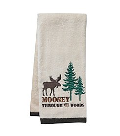 Living Quarters Moosey Through The Woods Hand Towel