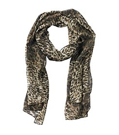 Collection 18 Animal Stripe Oblong Scarf