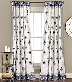 Lush Decor Budapest Geo Room Darkening 2-Piece Curtain Set