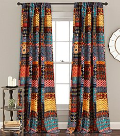Lush Decor Misha Room Darkening 2-Piece Curtain Set