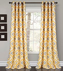 Lush Decor Diamond Ikat Room Darkening 2-Piece Curtain Set