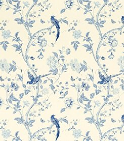 Laura Ashley® Summer Palace Royal Blue Wallpaper