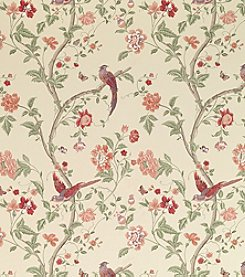 Laura Ashley® Summer Palace Cranberry Wallpaper