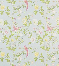 Laura Ashley® Summer Palace Duck Egg Wallpaper