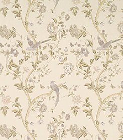 Laura Ashley® Summer Palace Taupe and Ivory Wallpaper