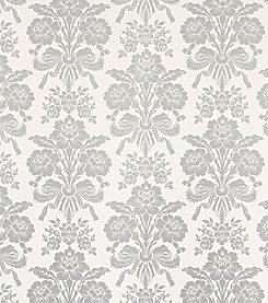 Laura Ashley® Tatton Silver Wallpaper