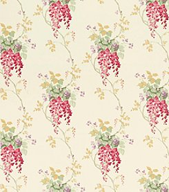 Laura Ashley® Wisteria Cranberry Wallpaper