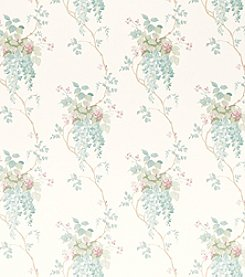 Laura Ashley® Wisteria Duck Egg and Pistachio Wallpaper