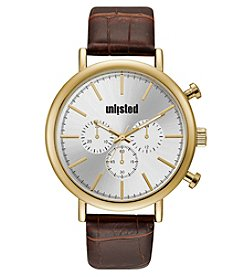 Unlisted by Kenneth Cole Men's Strap With Silver Dial Watch