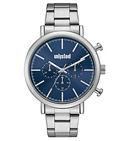 Unlisted by Kenneth Cole® Men's Bracelet With Blue Dial Watch