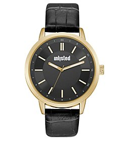 Unlisted by Kenneth Cole® Men's Strap With Black Dial Watch