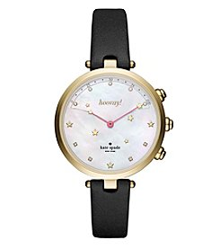 kate spade new yor® Leather Holland Hybrid Smart Watch