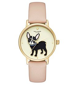 kate spade new york® Vachetta Leather Grand Metro Watch