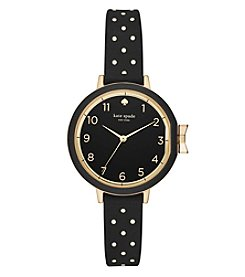 kate spade new york® Dot Silicone Park Row Watch