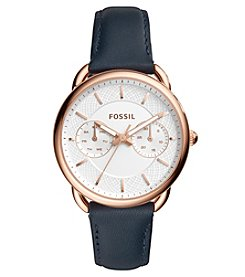 Fossil® Tailor Multifunction Leather Watch