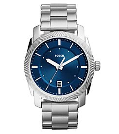 Fossil® Women's Machine Three-Hand Date Stainless Steel Watch