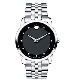 Movado® Men's Diamond Marker Museum Classic Watch