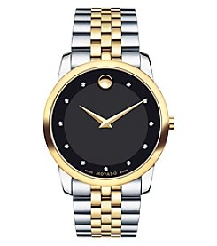 Movado® Men's Diamond Museum Classic Watch
