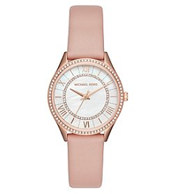 Michael Kors® Lauryn Leather Three-Hand Watch
