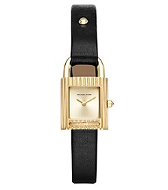 Michael Kors® Isadore Leather Two-Hand Watch