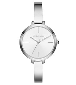 Michael Kors Women's Jaryn Stainless Steel Three Hand Half Bangle Watch