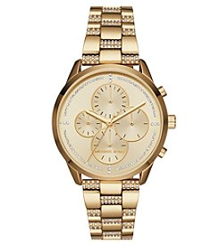 Michael Kors Slater Goldtone Chronograph Watch