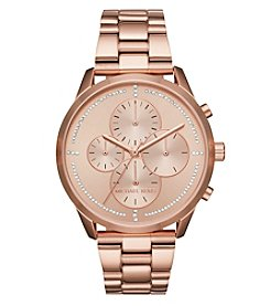 Michael Kors Slater Rose Goldtone Chronograph Watch
