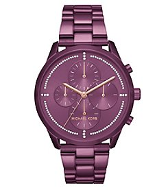 Michael Kors Slater Purple IP Chronograph Watch