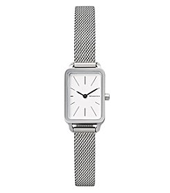 Skagen® Hagen Mini Rectangular Steel-Mesh Watch