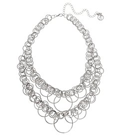 Erica Lyons® Extended Sizes Graduated Rings Collar Necklace
