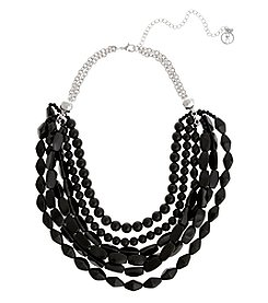 Erica Lyons® Extended Sizes Multi Row Collar Necklace