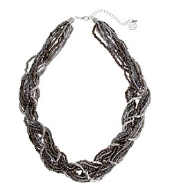 Erica Lyons® London Fog Braided Necklace