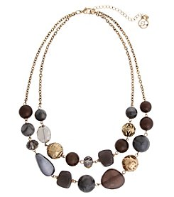 Erica Lyons® London Fog Two Row Necklace