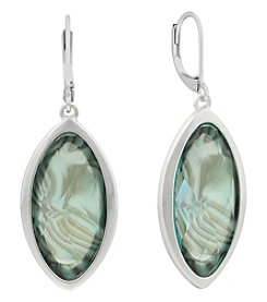 Gloria Vanderbilt® Silvertone Drop Earrings