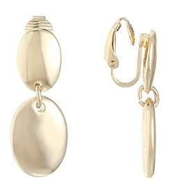 Gloria Vanderbilt® Double Drop EZ Comfort Clip Earrings