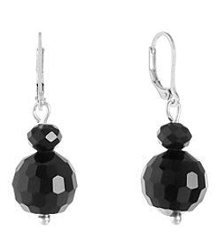 Gloria Vanderbilt® Faceted Bead Double Drop Earrings