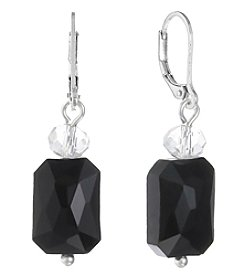 Gloria Vanderbilt® Faceted Glass Bead Drop Earrings