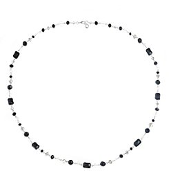 Gloria Vanderbilt® Black And White Station Strandage Necklace