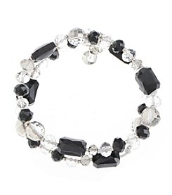 Gloria Vanderbilt® Double Row Stretch Beaded Bracelet