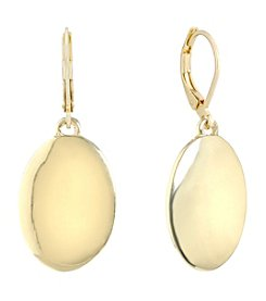 Gloria Vanderbilt® Round Disc Leverback Drop Earrings