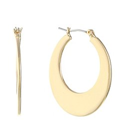 Gloria Vanderbilt® Wide Medium Click Top Hoop Earrings