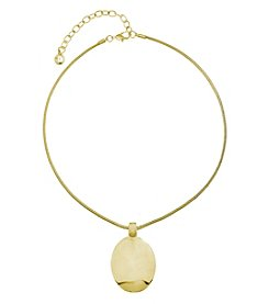 Gloria Vanderbilt® Goldtone Disc Pendant Necklace
