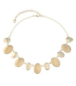 Gloria Vanderbilt® Goldtone Disc Drop Frontal Necklace