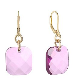 Gloria Vanderbilt® Leverback Square Drop Earrings