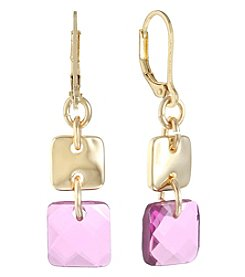 Gloria Vanderbilt® Leverback Double Drop Earrings