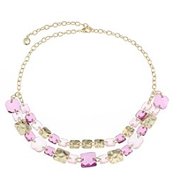 Gloria Vanderbilt® Double Row Frontal Necklace