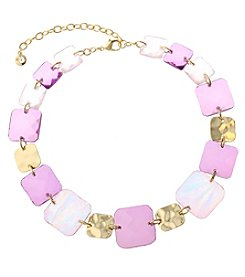 Gloria Vanderbilt® Square Stone Collar Necklace