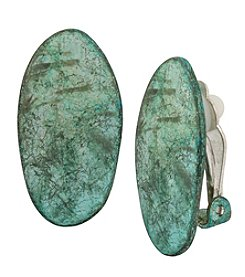 Robert Lee Morris Soho™ Patina Clip On Earrings