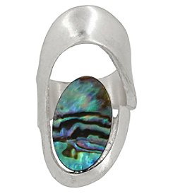 Robert Lee Morris Soho™ Silvertone Abalone Cut Out Ring
